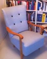lyseblå fyllingstol
